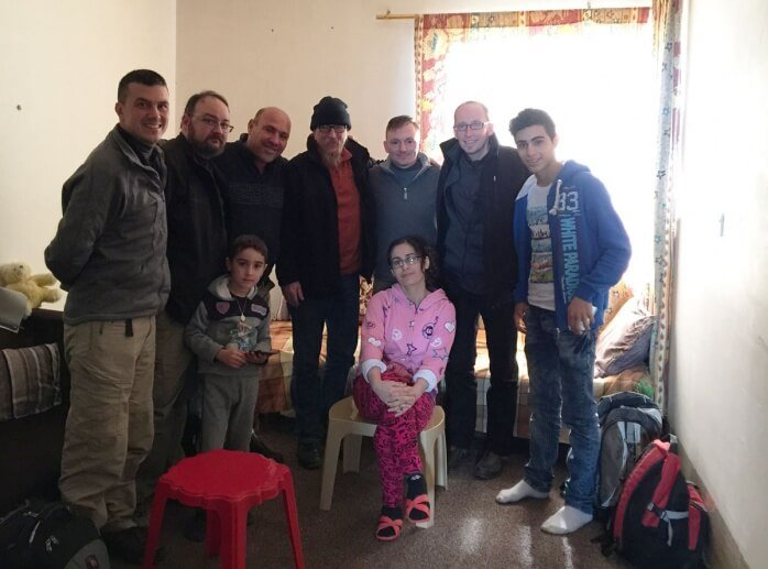 family in Erbil that had been displaced by ISIS